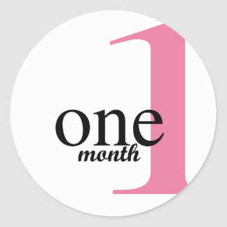 Month One Sticker