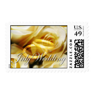 month_wedding postage stamp