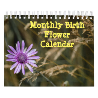 Monthly Birth Flowers Calendar