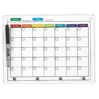 Monthly Calendar Whiteboard