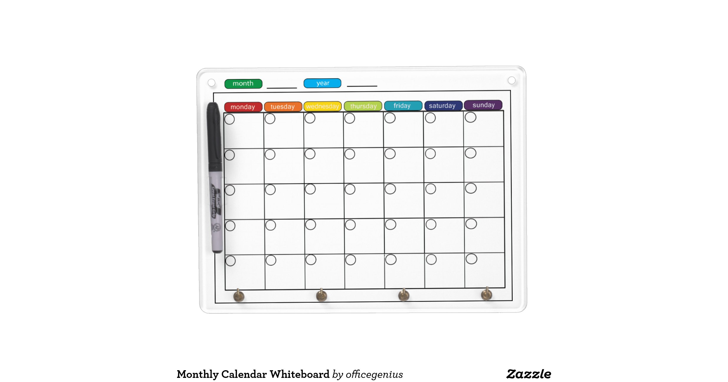 """Dry Erase Calendar Boards : Search results for """"whiteboard monthly calendar"""
