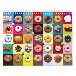 Monthly Donuts Wall Calendar