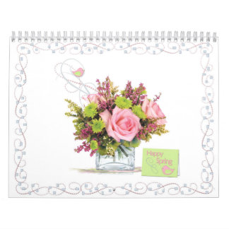 Monthly Flower Bouquet and Card Calendar