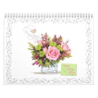 Monthly Flower Bouquet and Card Calendar