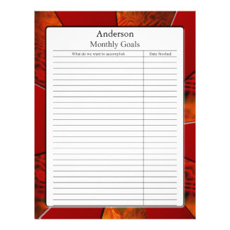Monthly Goal Page