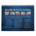 Monthly Meditation Wall Calendar