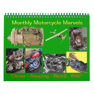 Monthly Motorcycle Marvels 2016 Calendar