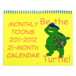 Monthly Toons 2011-2012 21-Month Calendar