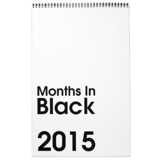 Months In Black 2015 ~ Leslie Peppers Calendar