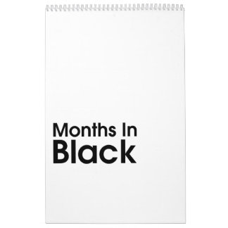 Months In Black 2017 ~ Leslie Peppers Calendar