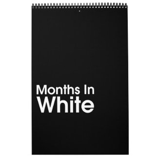 Months In White 2017 ~ Leslie Peppers Calendar