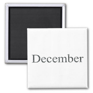 Months of the Year - December Magnets