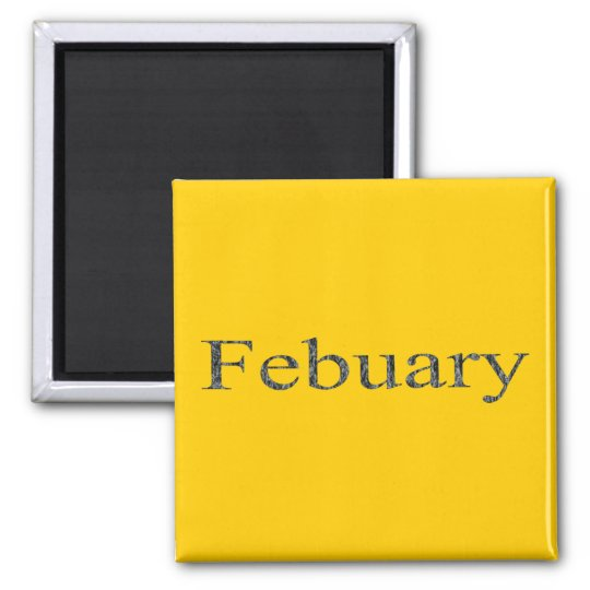 Months of the Year - February Magnet