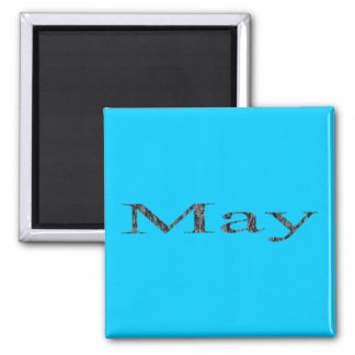 Months of the Year - May 2 Inch Square Magnet