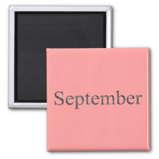 Months of the Year - September 2 Inch Square Magnet
