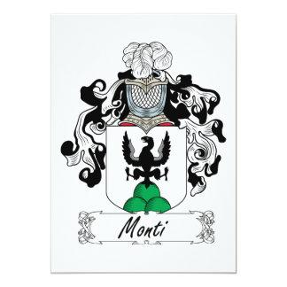 Monti Family Crest 5x7 Paper Invitation Card