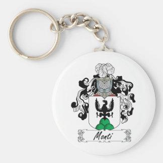 Monti Family Crest Basic Round Button Keychain