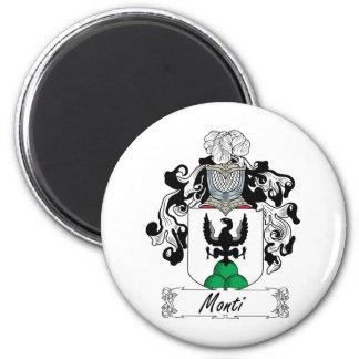 Monti Family Crest 2 Inch Round Magnet