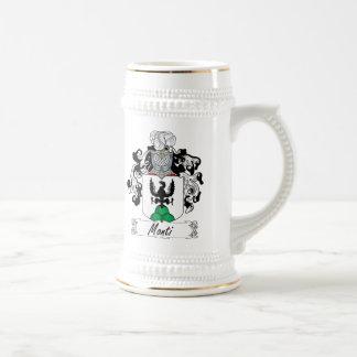 Monti Family Crest 18 Oz Beer Stein