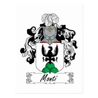 Monti Family Crest Postcard