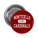 Monticello - cardenales - Cleveland Heights Pin Redondo 5 Cm