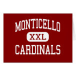 Monticello - Cardinals - Cleveland Heights Greeting Card