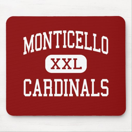 Monticello - Cardinals - Cleveland Heights Mouse Pad