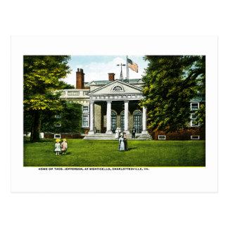 Monticello, Charlottesville, Virginia Post Card