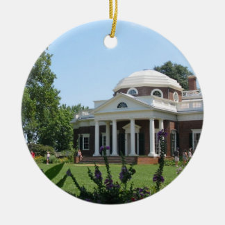 Monticello Christmas Ornament
