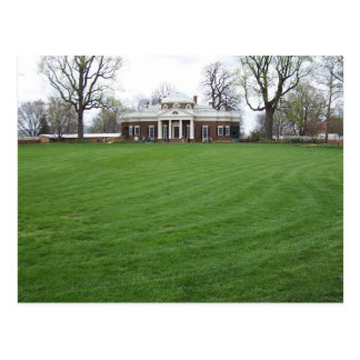 Monticello de Jefferson… el patio trasero en Postal