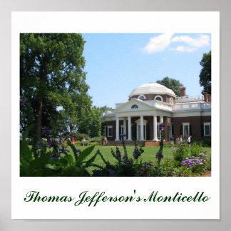 Monticello de Thomas Jefferson Impresiones