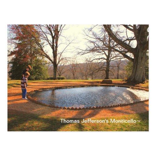 Monticello de Thomas Jefferson Tarjeta Postal