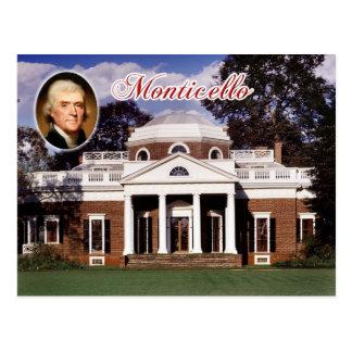 Monticello el hogar de Jefferson Virginia Tarjetas Postales