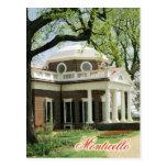 Monticello, el hogar de Jefferson, Virginia Tarjeta Postal