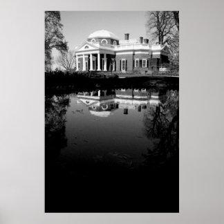 Monticello en el agua poster