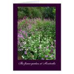 Monticello Flower Gardens Card