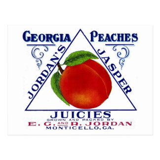 Monticello Georgia Peaches Postcard