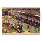 Monticello Indiana Lake Shafer 1950 Amusement Park Card