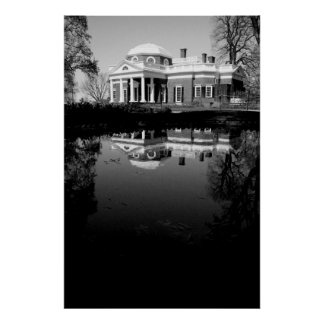 Monticello on Water Print