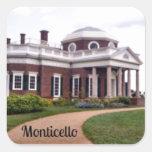 Monticello Square Stickers