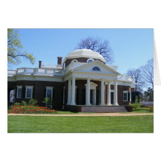 monticello stationery note card