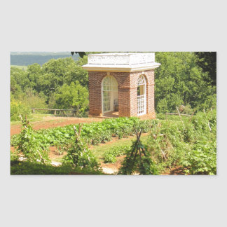 Monticello View Rectangle Stickers