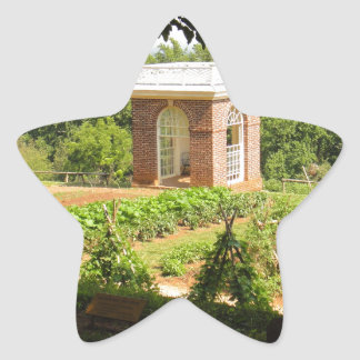 Monticello View Star Sticker