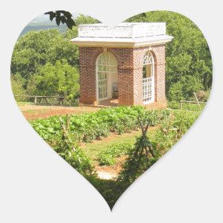 Monticello View Heart Sticker
