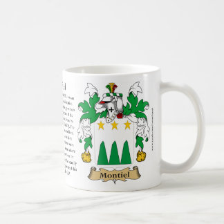 Montiel, the Origin, the Meaning and the Crest Coffee Mug