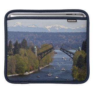 Montlake Bridge and Cascade Mountains Sleeve For iPads