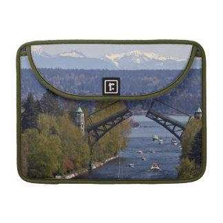 Montlake Bridge and Cascade Mountains MacBook Pro Sleeve