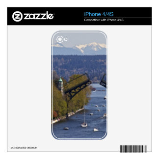 Montlake Bridge and Cascade Mountains iPhone 4 Skins