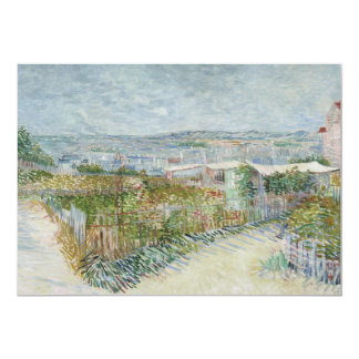 Montmartre Behind Moulin de la Galette by Van Gogh Announcement