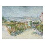 Montmartre Behind Moulin de la Galette by Van Gogh Photographic Print